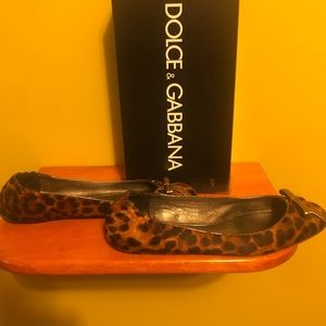 Dolce & Gabbana pony leopard print shoes